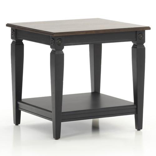 Glennwood End Table  Black & Charcoal