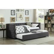 ACME Romona Daybed & Trundle, Gray Linen (1Set/2Ctn) - 39055 Product Image