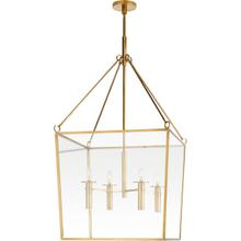 View Product - Barbara Barry Cochere 4 Light 24 inch Soft Brass Lantern Pendant Ceiling Light, Large