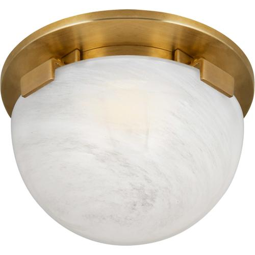 AERIN Serein LED 6 inch Hand-Rubbed Antique Brass Solitaire Flush Mount Ceiling Light