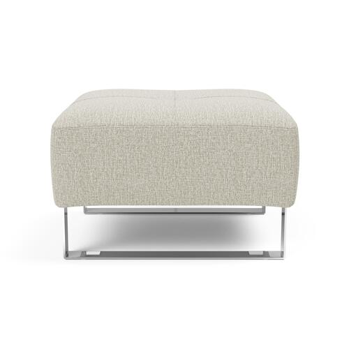 "DELUXE EXCESS PUFF, 25""X25""/EXCESS OTTOMAN LEGS, CHROME"