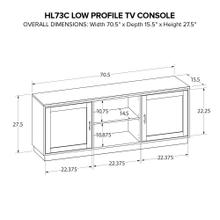 HL73C Custom Wide TV Console
