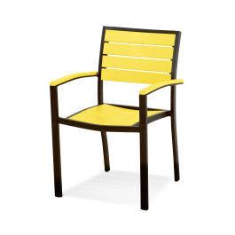 Polywood Furnishings - Eurou2122 Dining Arm Chair in Textured Bronze / Lemon
