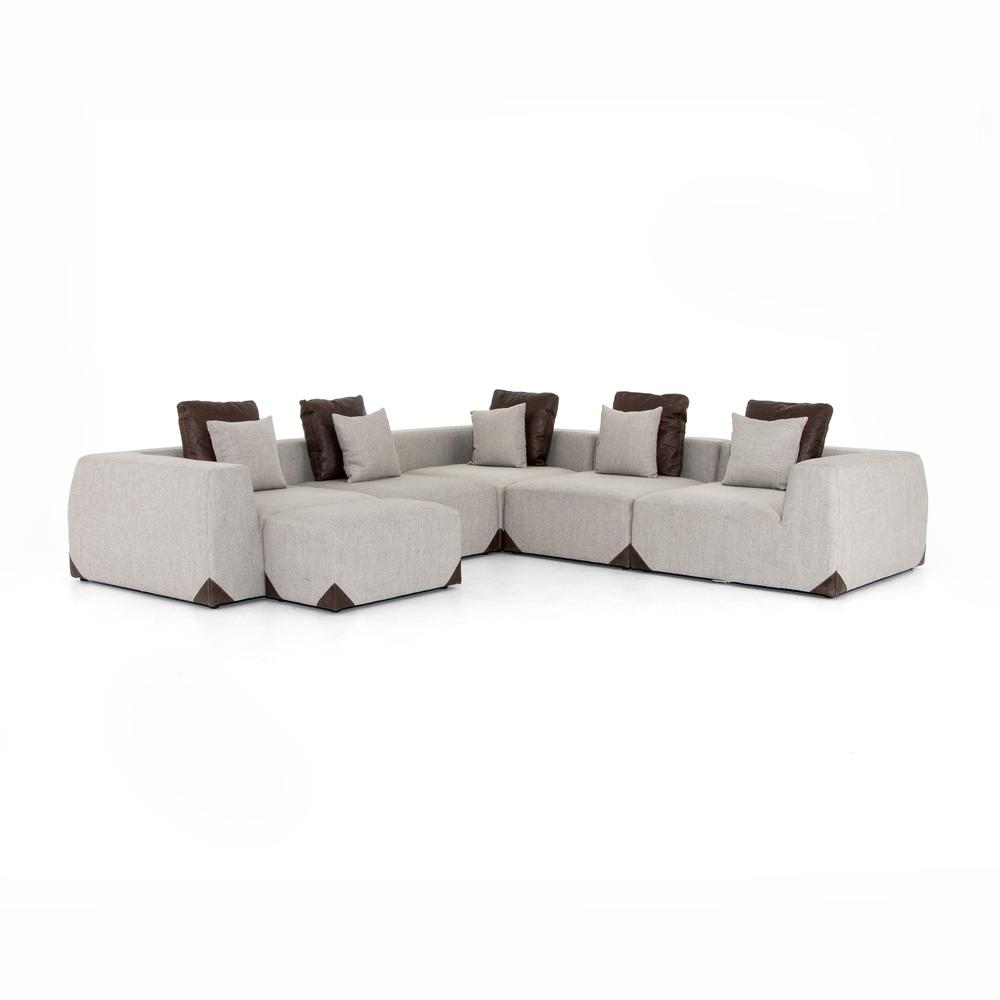 Madden Corner Sectional-gabardine Wheat