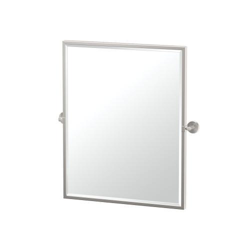 Latitude2 Framed Rectangle Mirror in Satin Nickel