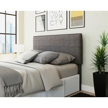 Dark Gray Upholstered Queen Bed Headboard
