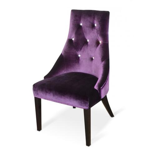 Gallery - A&X Charlotte - Purple Velour Dining Chair (Set of 2)