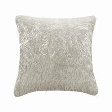 Fun Fur Long Hair Cushion - White