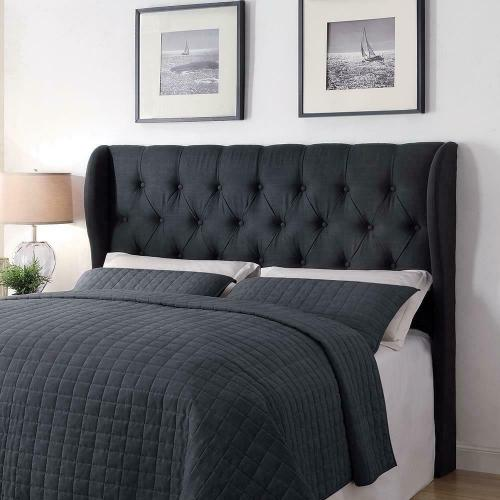 Murietta Traditional Charcoal Upholstered Queen Headboard