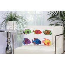 """Outdoor Pillows Ti775 Multicolor 14"""" X 22"""" Throw Pillow"""