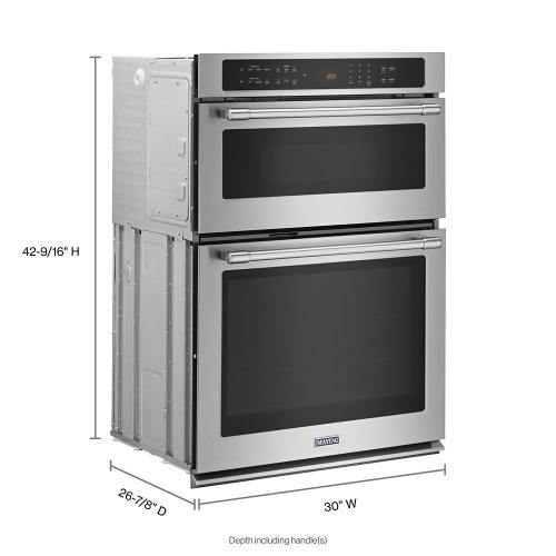Maytag - 30-INCH WIDE COMBINATION WALL OVEN WITH TRUE CONVECTION - 6.4 CU. FT.