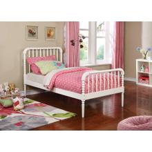 Jones Traditional White Twin Bed