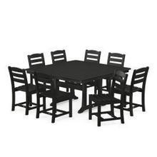 View Product - La Casa Cafu00e9 9-Piece Farmhouse Trestle Dining Set in Black