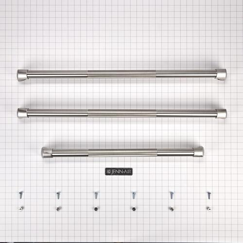 French Door Bottom-Mount Refrigerator Pro Style Handle Kit