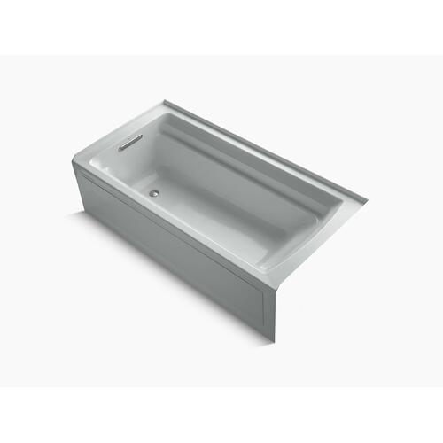 "Ice Grey 72"" X 36"" Alcove Bath With Bask Heated Surface and Left-hand Drain"