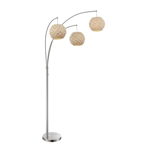 Gallery - 3-lite Arch Lamp, Ps/nat. Finish Bamboo Shade, Type A 60wx3