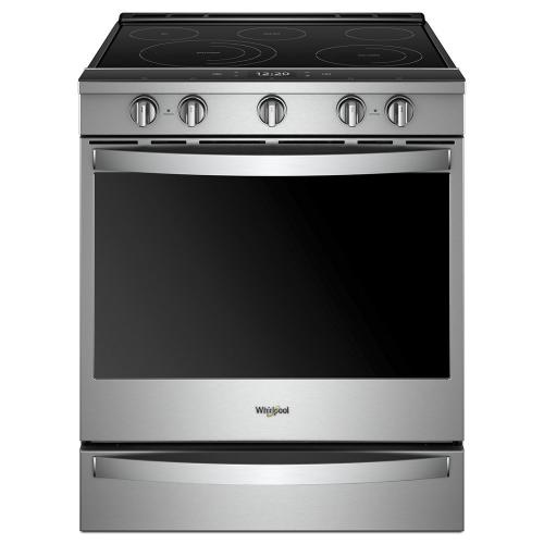 Whirlpool - 6.4 cu. ft. Smart Slide-in Electric Range with Scan-to-Cook Technology