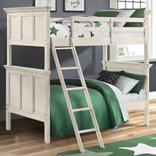 See Details - San Mateo Youth Twin over Twin Bunk Bed  Rustic White