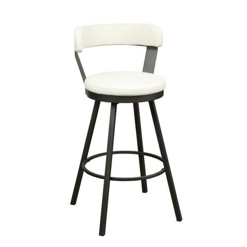 Gallery - Swivel Pub Height Chair, White