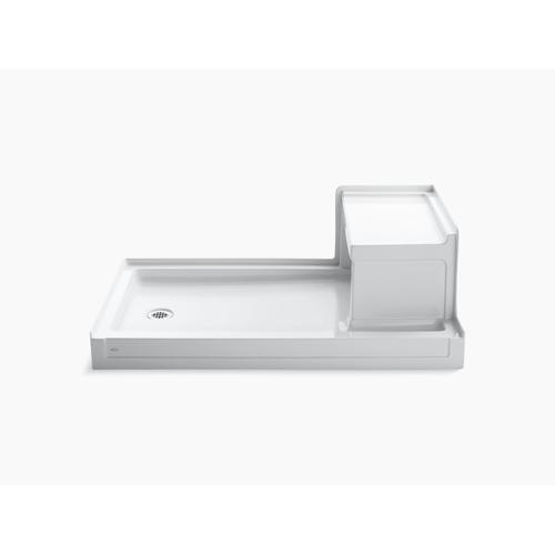 "Dune 60"" X 36"" Single Threshold Left-hand Drain Shower Base With Integral Right-hand Seat"