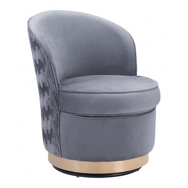 Zelda Accent Chair Gray