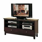 ACME Danville TV Stand - 07093B - Black Marble & Walnut Product Image
