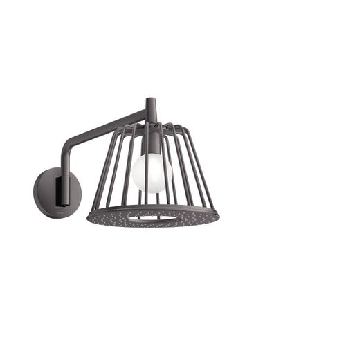 Brushed Black Chrome LampShower 275 1jet with shower arm