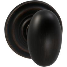 Interior Traditional Egg-shaped Knob Latchset in (TB Tuscan Bronze, Lacquered)