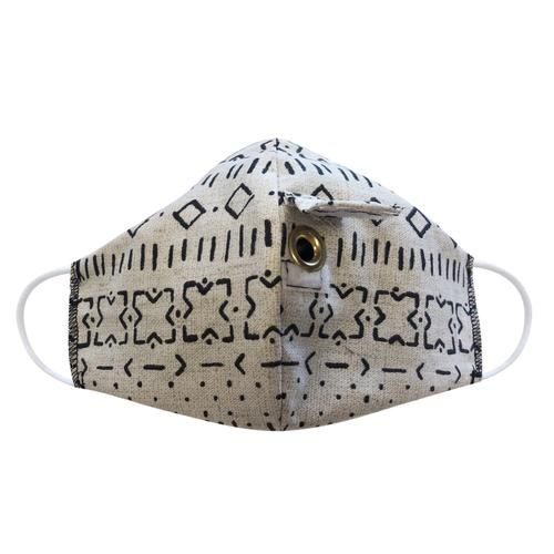 Happy Hour Reusable Face Mask in Bakosi Twine
