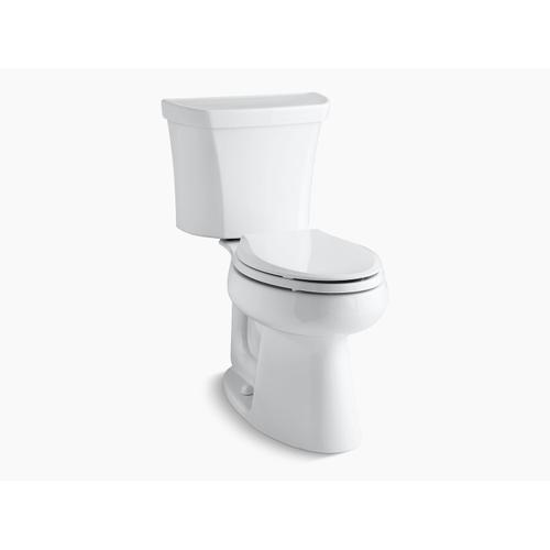 Kohler - Biscuit Two-piece Elongated Dual-flush Chair Height Toilet With Right-hand Trip Lever