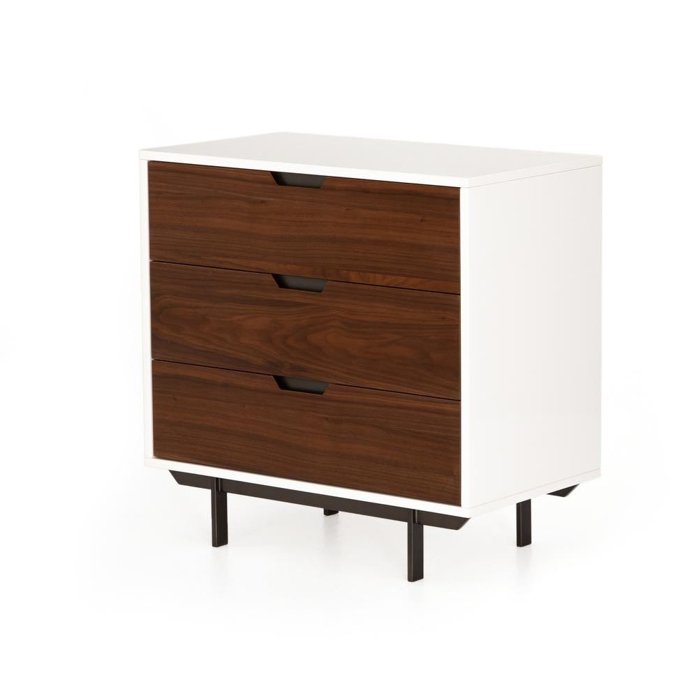 Tucker 3 Drawer Dresser-white