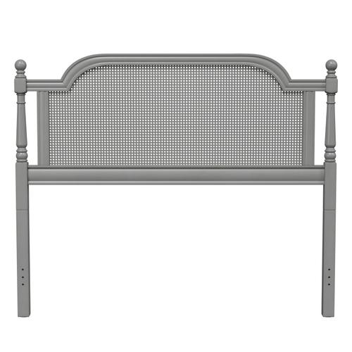 Melanie Queen Wood Headboard, French Gray