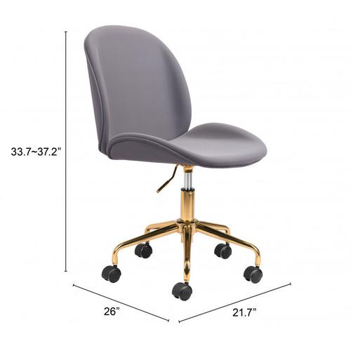 Zuo Modern - Miles Office Chair Gray