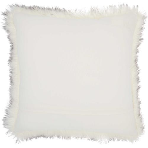 "Faux Fur Fl303 Grey 22"" X 22"" Throw Pillow"
