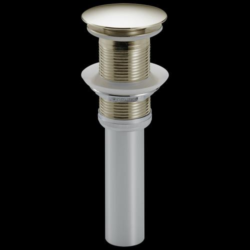 Polished Nickel Push Pop-Up Less Overflow