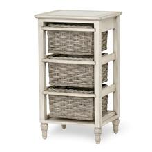 3-Basket Storage Cabinet - Two Toned Gray Finish