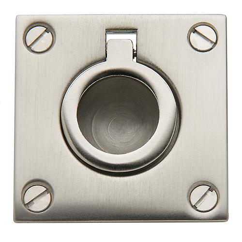 Baldwin - Satin Nickel Flush Ring Pull