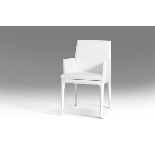 VIG Furniture - Modrest Dex Modern White Leatherette Dining Chair