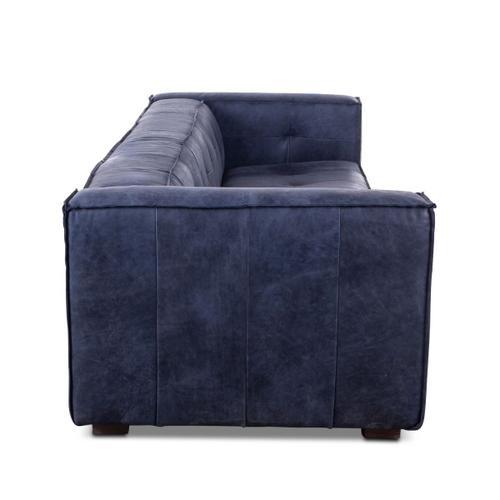 Milano Blue Leather Sofa