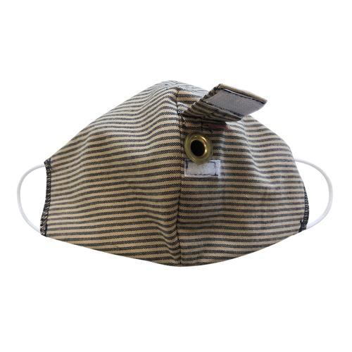 Happy Hour Reusable Face Mask in Baldwin Sterling Stripe