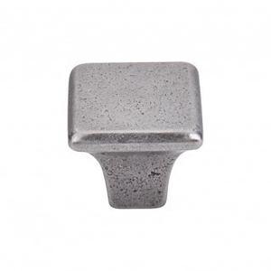 Britannia Square Knob 1 1/4 Inch - Cast Iron