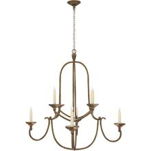 View Product - Chapman & Myers Flemish 8 Light 36 inch Gilded Iron Chandelier Ceiling Light in (None)