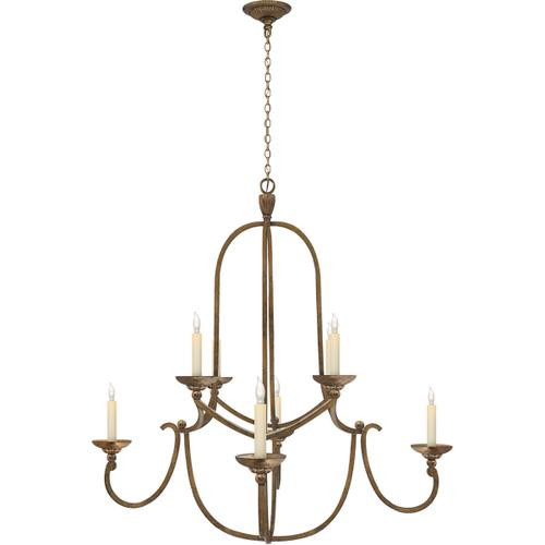 Visual Comfort - Chapman & Myers Flemish 8 Light 36 inch Gilded Iron Chandelier Ceiling Light in (None)