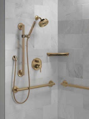 "Champagne Bronze 24"" Contemporary Decorative ADA Grab Bar Product Image"