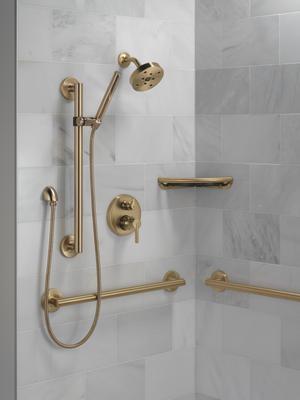 "Champagne Bronze 24"" Contemporary Decorative ADA Grab Bar Product Image"