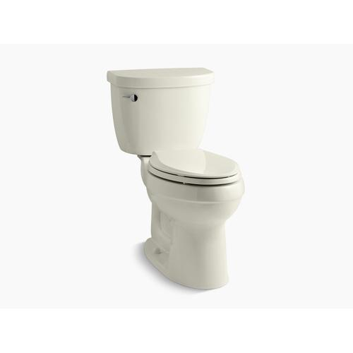 Biscuit Two-piece Elongated 1.6 Gpf Chair Height Toilet