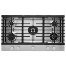 """See Details - 36"""" 5-Burner Gas Cooktop with Griddle - Stainless Steel"""
