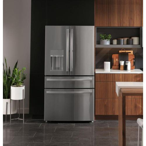 GE Profile™ 27.9 Cu. Ft. Smart Fingerprint Resistant 4-Door French-Door Refrigerator with Door In Door
