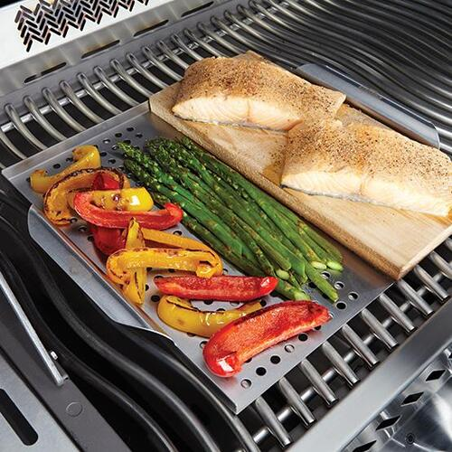Napoleon BBQ - Stainless Steel Multi-functional Topper with Cedar Plank