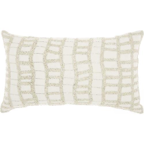 "Luminescence E5570 Silver 12"" X 20"" Throw Pillow"